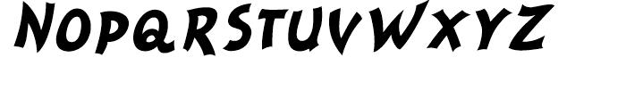 Nanumunga Bold Oblique Font UPPERCASE