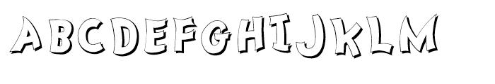 Nanumunga Shadow Bold Font UPPERCASE