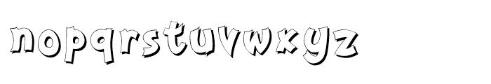 Nanumunga Shadow Bold Font LOWERCASE
