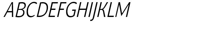 Nat Grotesk Narrow Light Italic Font UPPERCASE