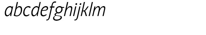 Nat Grotesk Narrow Light Italic Font LOWERCASE
