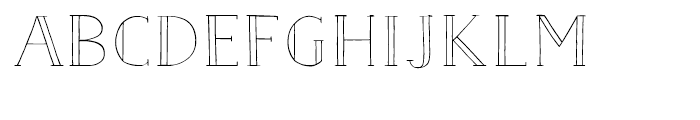 Nave Inline Light Font UPPERCASE