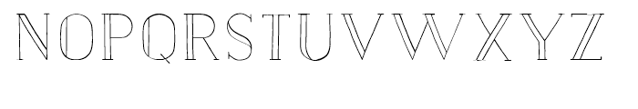 Nave Inline Light Font LOWERCASE