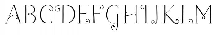 Naive Fantaisies Light Font LOWERCASE