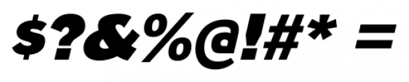 Naked Power Black Italic Font OTHER CHARS