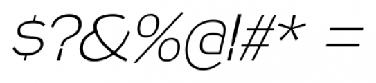 Naked Power ExtraLight Italic Font OTHER CHARS