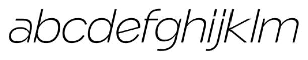 Naked Power ExtraLight Italic Font LOWERCASE