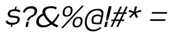 Naked Power Light Italic Font OTHER CHARS