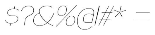 Naked Power UltraLight Italic Font OTHER CHARS