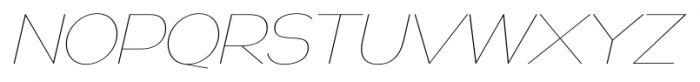 Naked Power UltraLight Italic Font UPPERCASE