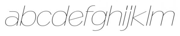 Naked Power UltraLight Italic Font LOWERCASE