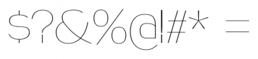 Naked Power UltraLight Font OTHER CHARS
