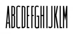 Narrow Minded JNL Regular Font UPPERCASE
