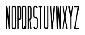 Narrow Minded JNL Regular Font LOWERCASE