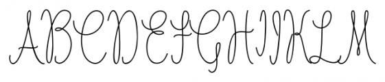 Nathalie Regular Font UPPERCASE