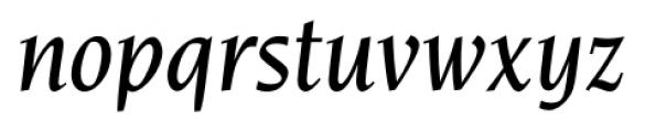 Navarro Medium Italic Font LOWERCASE
