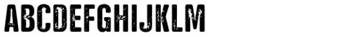 NATRON Rough Medium Font UPPERCASE