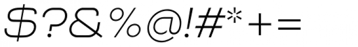 NaNa Pro Light Italic Font OTHER CHARS