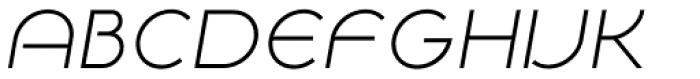 NaNa Pro Light Italic Font UPPERCASE