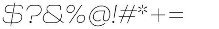 NaNa Pro Thin Italic Font OTHER CHARS