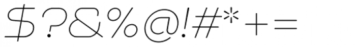 NaNa Rounded Pro Thin Italic Font OTHER CHARS
