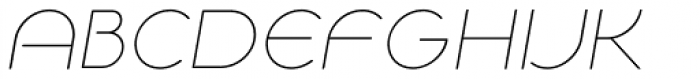 NaNa Rounded Pro Thin Italic Font UPPERCASE