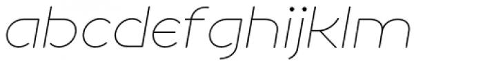 NaNa Rounded Pro Thin Italic Font LOWERCASE