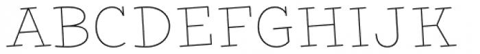 Nacho Thin Font LOWERCASE