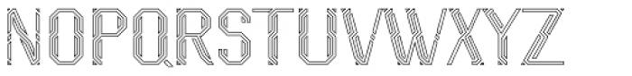Naga Outline Font UPPERCASE