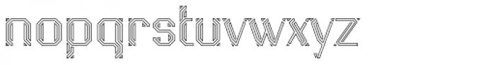 Naga Outline Font LOWERCASE