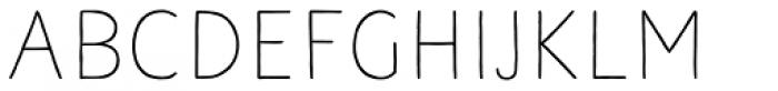 Naive Line Sans Regular Font LOWERCASE