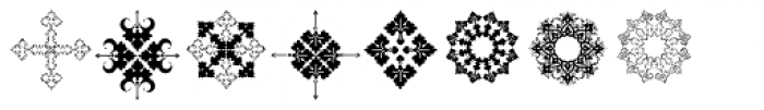 Naive Ornaments Three Font LOWERCASE