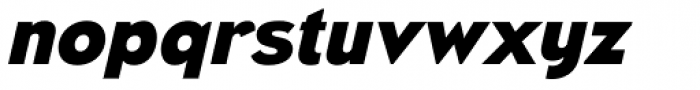 Naked Power Heavy Italic Font LOWERCASE