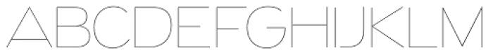 Naked Power UltraLight Font UPPERCASE
