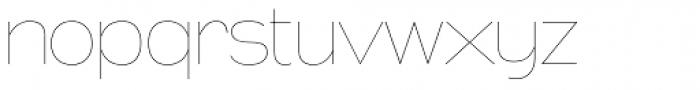 Naked Power UltraLight Font LOWERCASE
