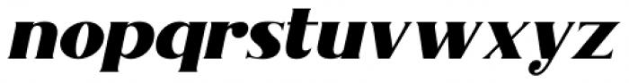 Nakone Solid Italic Font LOWERCASE