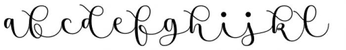 Namaste Script Essential Bold Font LOWERCASE