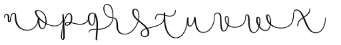 Namaste Script Essential Light Font LOWERCASE