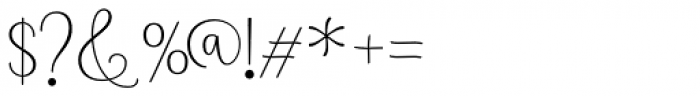 Namaste Script Pro Light Font OTHER CHARS