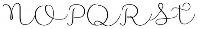 Namaste Script Pro Light Font UPPERCASE