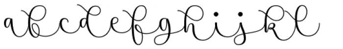 Namaste Script Pro Regular Font LOWERCASE