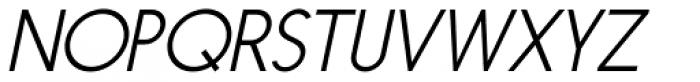 Nanami ExtraLight Oblique Font UPPERCASE
