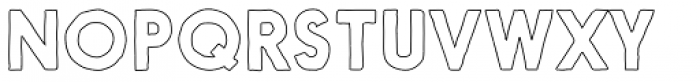 Nanami Handmade Outline Bold Font UPPERCASE