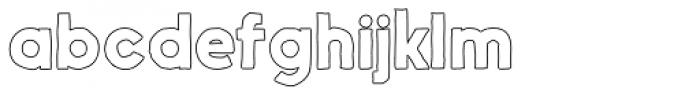 Nanami Handmade Outline Bold Font LOWERCASE