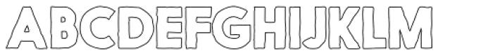 Nanami Handmade Outline Heavy Font UPPERCASE