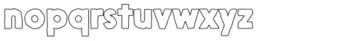 Nanami Handmade Outline Heavy Font LOWERCASE