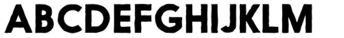 Nanami Handmade Solid Bold Font UPPERCASE