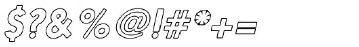 Nanami Rounded Outline Oblique Font OTHER CHARS
