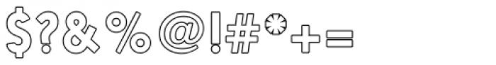 Nanami Rounded Outline Regular Font OTHER CHARS