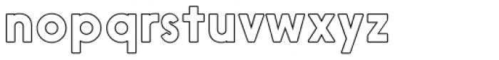 Nanami Rounded Outline Regular Font LOWERCASE